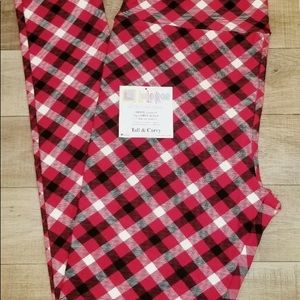 Lularoe Christmas plaid leggings TC